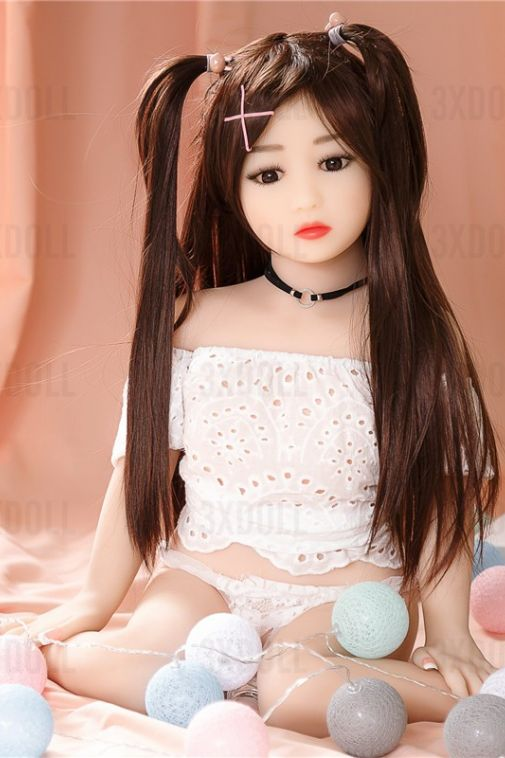 Best Love Dolls Japanese Real Teen Doll 100cm Sex Doll Flat Chest - Bessie