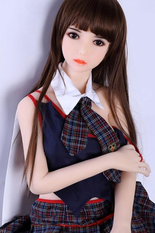 Nice Tits Cute Maid Sex Doll Super Slim Curvy Adult Doll 148cm - Edith