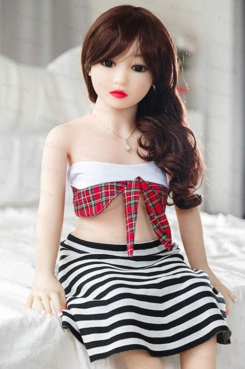100CM Small Tits Sex Doll Cute Teen Love Doll Toy TPE - Karrisa