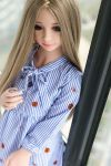 Small Breasts Mini TPE Sex Doll Cute Flat Chested Real Doll for Sex - Lois