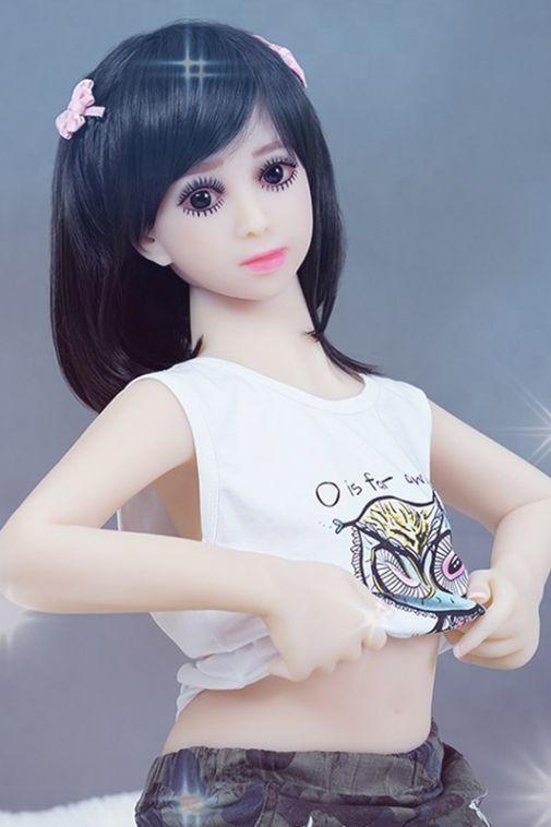 Flat Chested Sex Doll Big Eyes Love Doll Teen Age 125cm - Ali