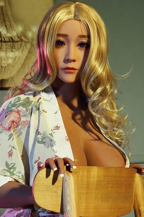 Brown Sex Doll Dark Skin Blonde Hair Life Size Doll 165cm - Yukina
