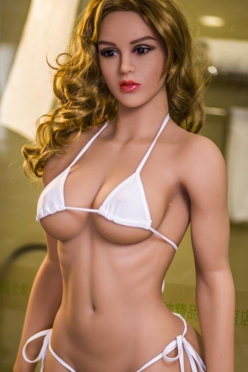 Muscular Blonde Realistic Sexdoll Slim Body Adult Love Doll Girl 165cm Ronda